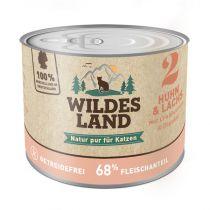 Wildes Land - Nassfutter - Huhn und Lachs mit Distelöl