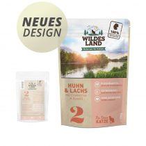 Wildes Land - Nassfutter - Huhn und Lachs mit Distelöl - Pouch 100g