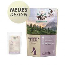 Wildes Land - Nassfutter - Kaninchen und Huhn mit Distelöl - Pouch 100g