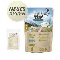 Wildes Land - Nassfutter - Kitten Huhn PUR mit Distelöl - Pouch 100g