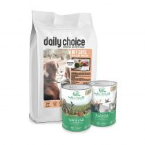 daily choice | Trockenfutter + Müller's Naturhof Nassfutter Sparpaket | 15 kg + 12 x 400g