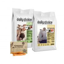 daily choice | Trockenfutter Sparpaket | 2 x 15 kg + Wildes Land Snack