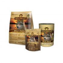 Wolfsblut | Probepaket Wild Duck Trockenfutter, Nassfutter und Cracker