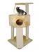 CAT DREAM | Eckboy beige | Sisal,Plüsch,beige 1