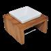 Replus | Futterstation Meshidai Einzelnapf Teak | Holz,Keramik,braun,weiß 1