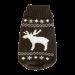 Wolters | Strickpullover Elch in Braun/Weiß | Strick,braun 1