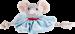 Trixie   Hundekönig Maus Tuch Leopold   Plüsch,Tau,blau,grau 1