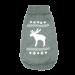 Wolters   Strickpullover mit Elch für Mops&Co in Grau/Weiß   Strick,grau 1
