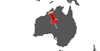 Weltkarte Australien