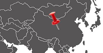 Weltkarte China