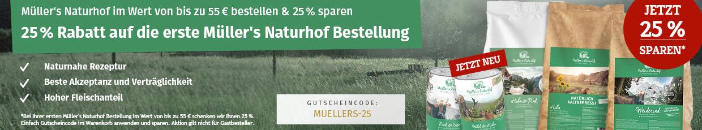 Müllers Naturhof Sale - 25% Erstbestellerrabatt