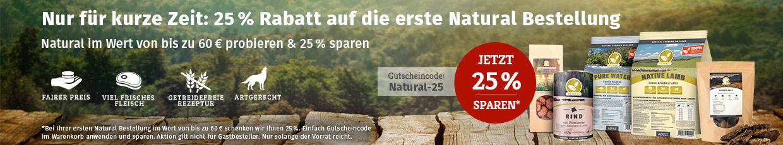 Natural Sale - 25% Erstbestellerrabatt