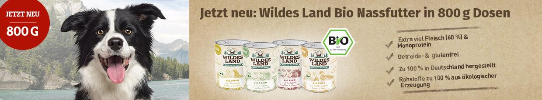 Wildes Land Bio Nassfutter für Hunde