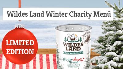 Wildes Land Winter Charitymenü Hund