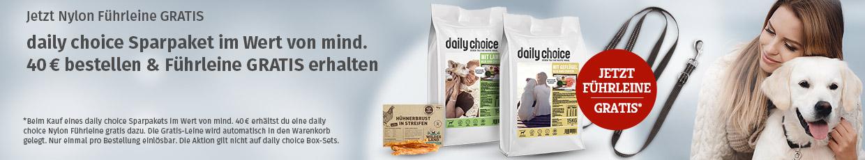 daily choice Aktion - Nylon Führleine gratis