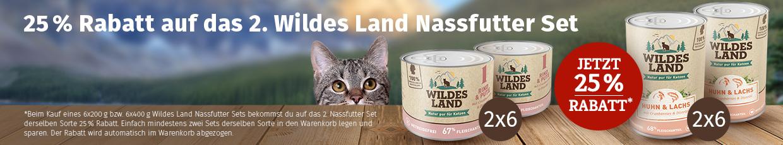Wildes Land Katze Nassfutter Aktion - 25% Rabatt auf 2.Set