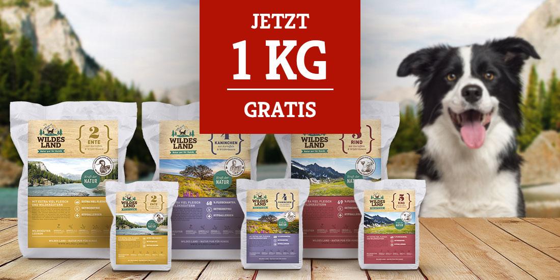 Wildes Land Trockenfutter Topseller Aktion - 1kg gratis