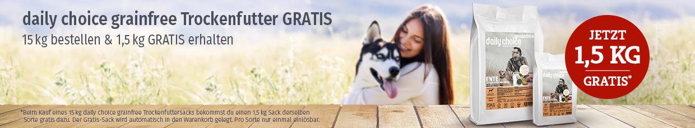 daily choice grainfree Trockenfutter Aktion - 1,5kg gratis