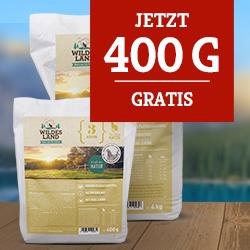 Wildes Land Trockenfutter Katze - neu + 400g gratis