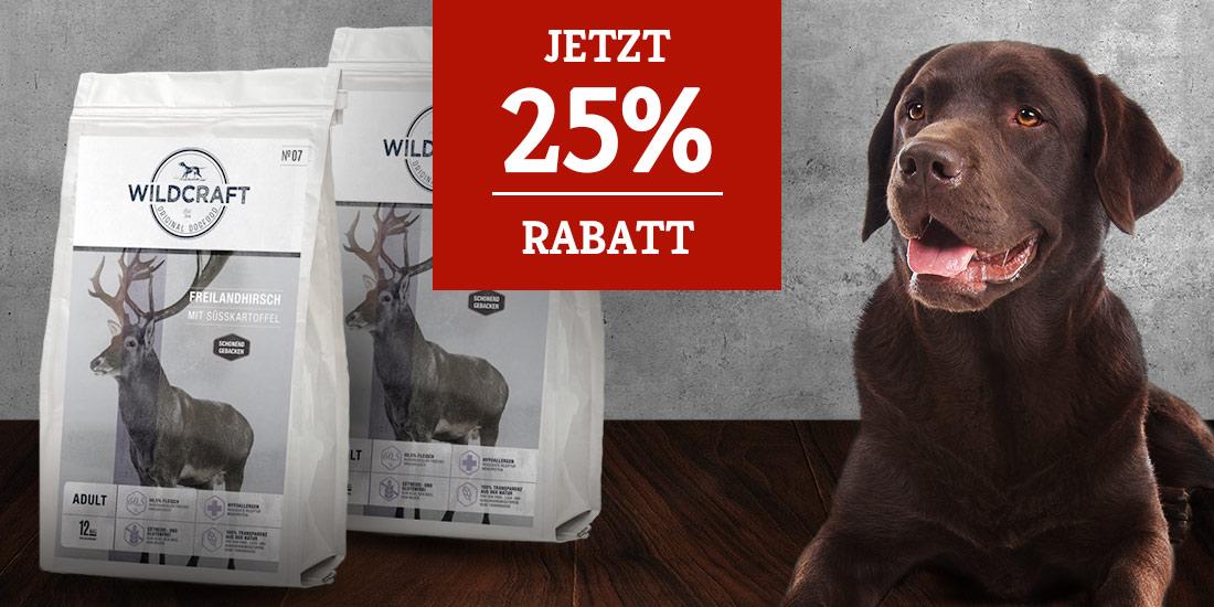 Wildcraft Trockenfutter Aktion - 25% Rabatt auf 2. Sack