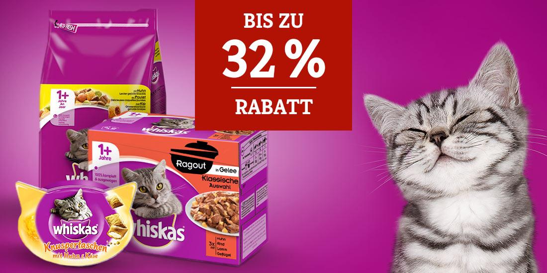 Whiskas Katzenfutter Rabattaktion
