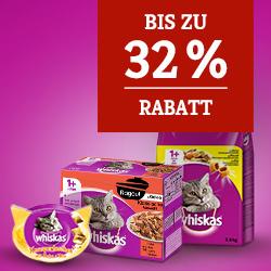 Whiskas Katzenfutter bis zu 32% Rabatt