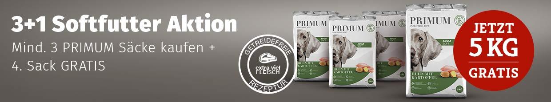 PRIMUM 3+1 Softfutter Aktion - 5kg gratis