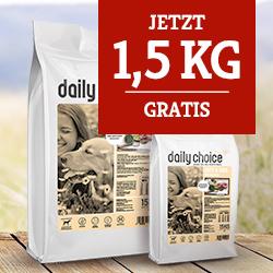 daily choice sensitiv Trockenfutter Aktion - 1,5kg gratis