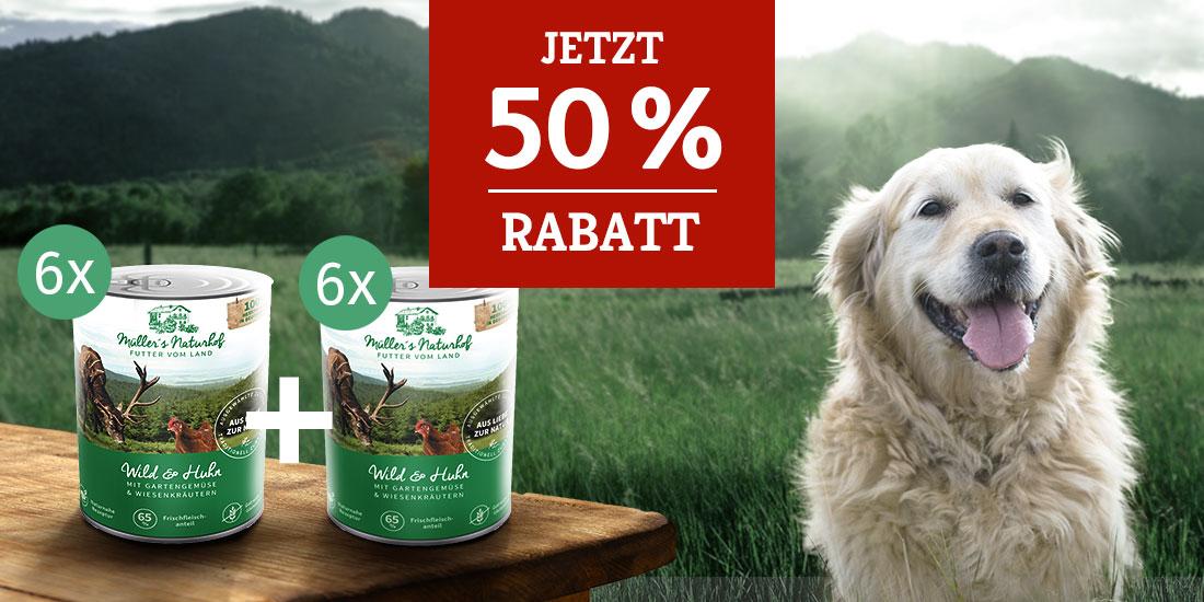 Müller's Naturhof Nassfutter Aktion - 50% Rabatt auf 2. Set