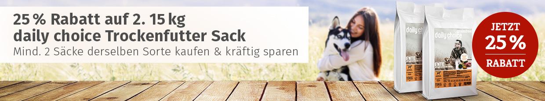 daily choice Aktion - 25% auf 2. Trockenfutter Sack