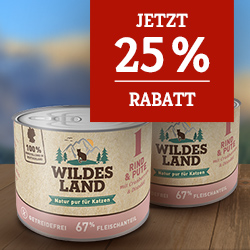 Wildes Land Katze Aktion - 25% Rabatt auf 2. Nassfutter Set