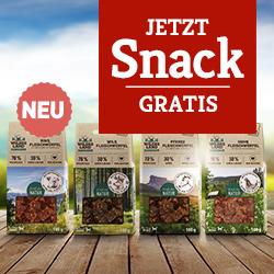 Wildes Land Hund Trockenfutter Aktion - Fleischwürfel gratis