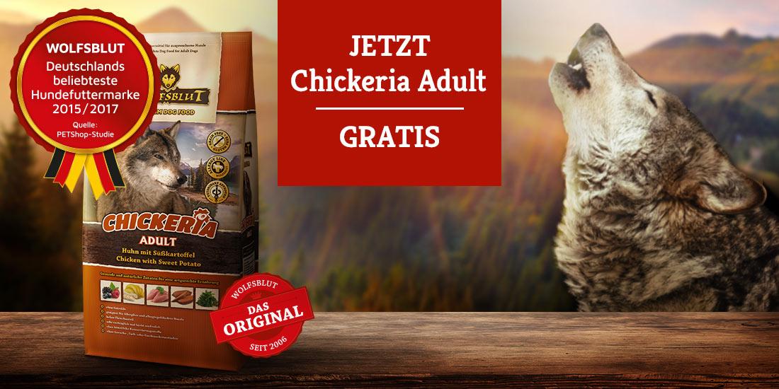 Wolfsblut Chickeria Adult 500g gratis ab 50 EUR Einkauf