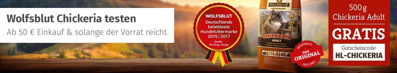 Wolfsblut Chickeria Trockenfutter - 500g gratis ab 50 Euro Einkauf