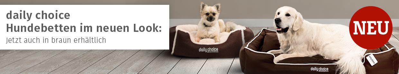 daily choice Hundebetten im neuen Look - jetzt auch in braun