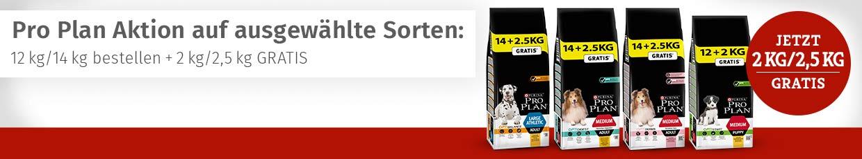 Pro Plan Trockenfutter Overfiller - Jetzt 2/2,5kg gratis