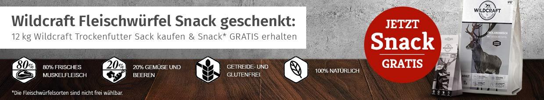 Wildcraft Trockenfutter Aktion - Fleischwürfel gratis