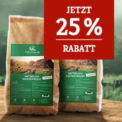 Müller's Naturhof Trockenfutter Aktion - 25% Rabatt auf 2. Sack