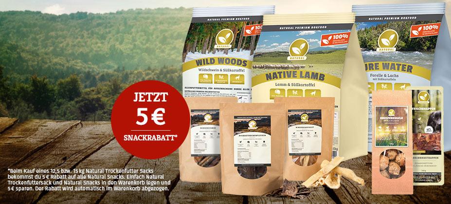 5€ Rabatt auf alle Natural Snacks