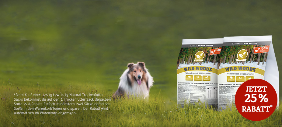 Sichere dir für deinen Hund einen Natural Trockenfutter-Vorrat: