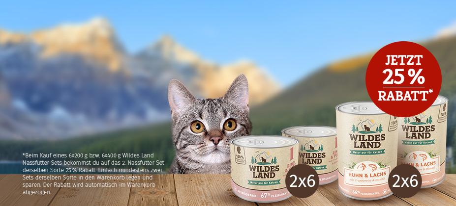 Sichere dir für deine Katze einen Wildes Land Nassfutter-Vorrat:
