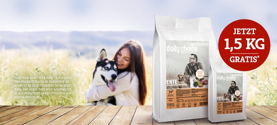 daily choice grainfree Trockenfutter GRATIS