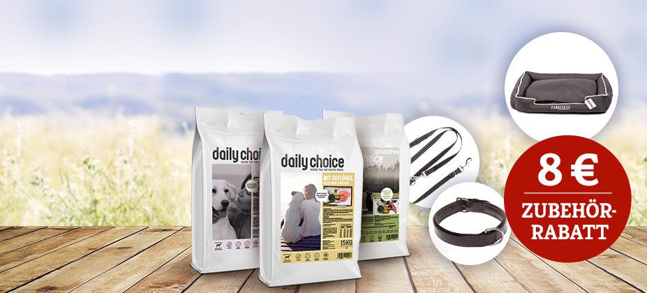 8€ Rabatt auf daily choice Zubehör