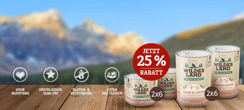 25% Rabatt auf 2. Wildes Land Nassfutter Set