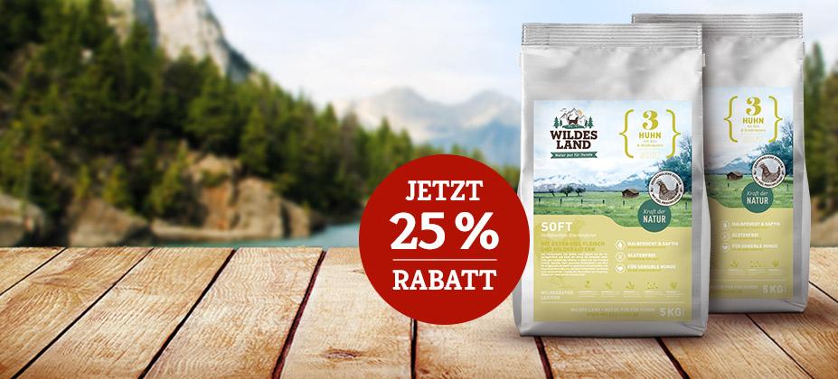 25% Rabatt auf 2. 5kg Wildes Land Soft Sack