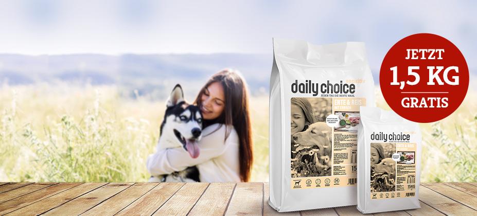 daily choice Sensitiv Trockenfutter GRATIS
