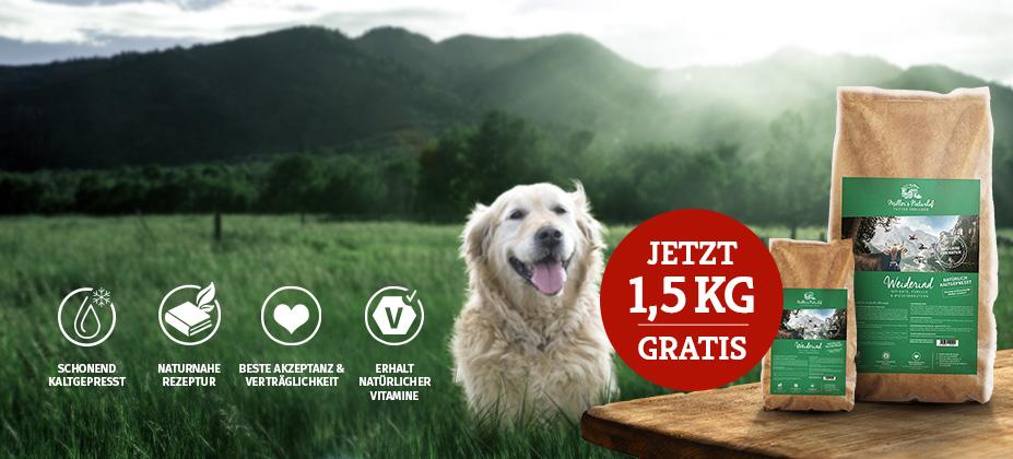 Müller's Naturhof Trockenfutter geschenkt: