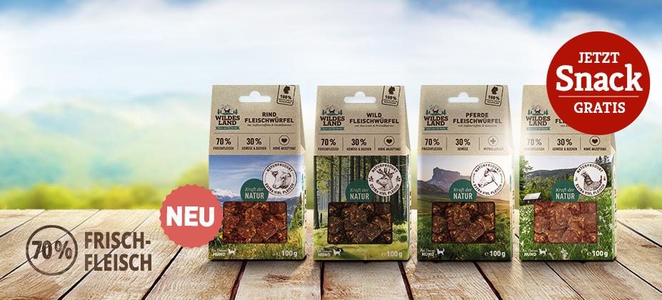NEU: Wildes Land Fleischwürfel Snacks