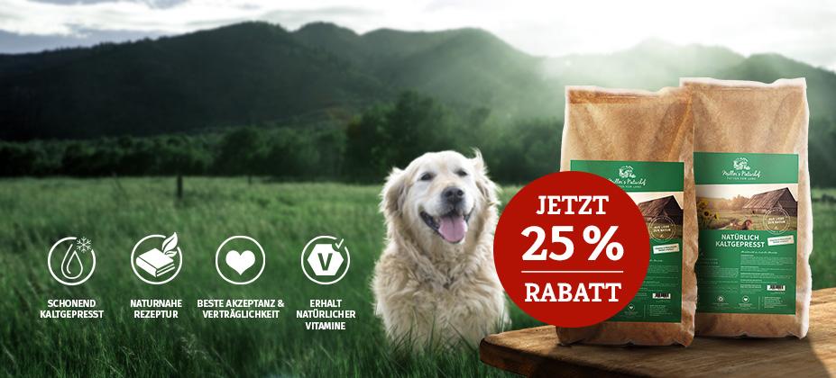 25% Rabatt auf 2. 15kg Müller's Naturhof Sack