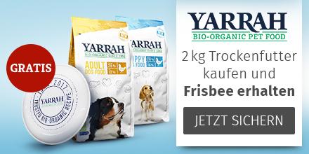 Yarrah 2kg Trockenfutter für Hunde kaufen + Frisbee gratis
